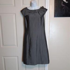 Sandra Darren Grey Sheath Dress